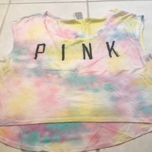 Pink by Victoria's Secret cropped top.